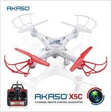 AKASO 100{e3d350071c40193912450e1a13ff03f7642a6c64c69061e3737cf155110b056f} Original X5C RC Helicóptero Quadcopter Drone Con cámara HD 2.4 GHz 4CH 6 Axis RTF Control Remoto Profesional Dron Juguetes