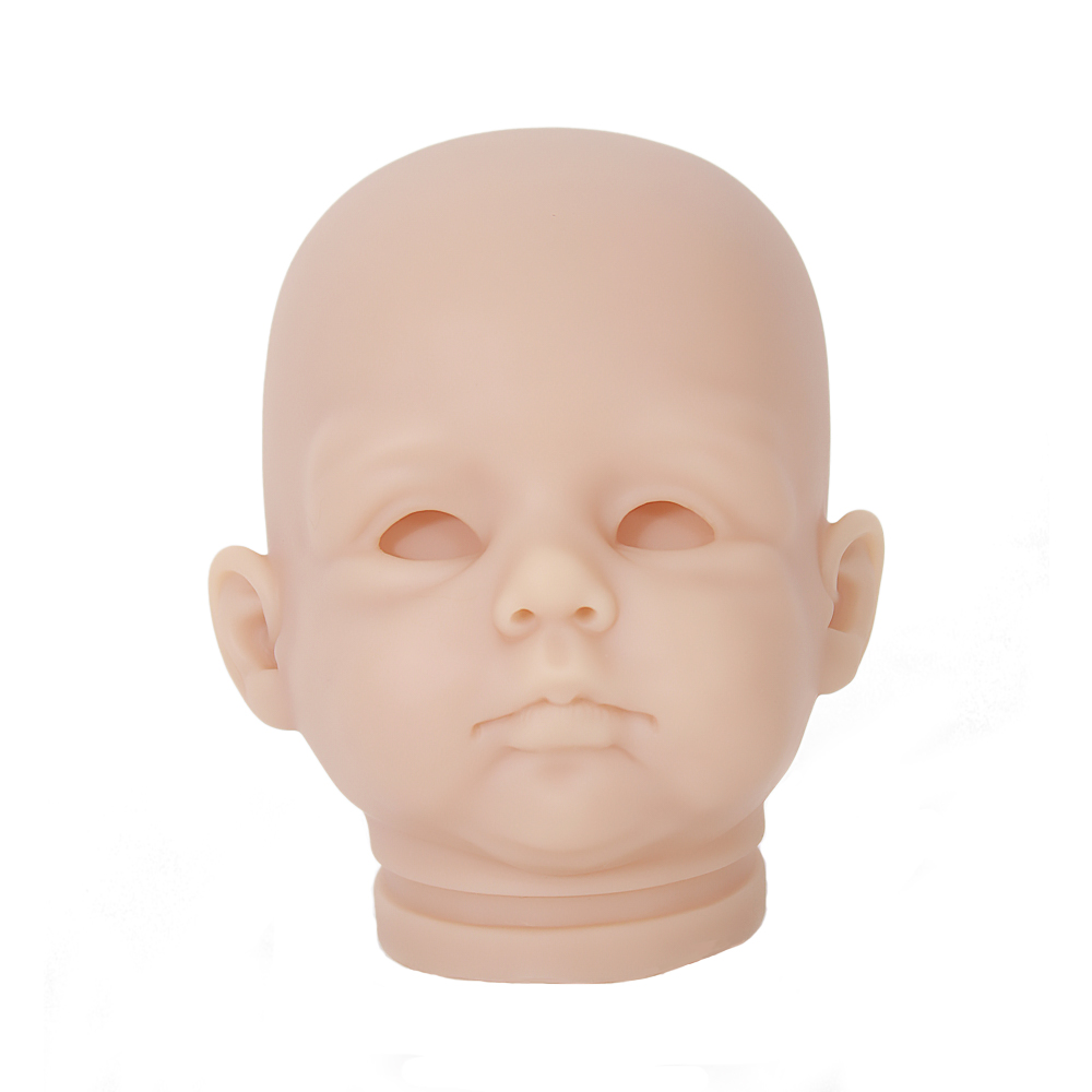 OtardDolls DIY blank kit soft vinyl reborn doll kit doll parts Silicone Vinyl Head 34 Arms and Legs for 20baby