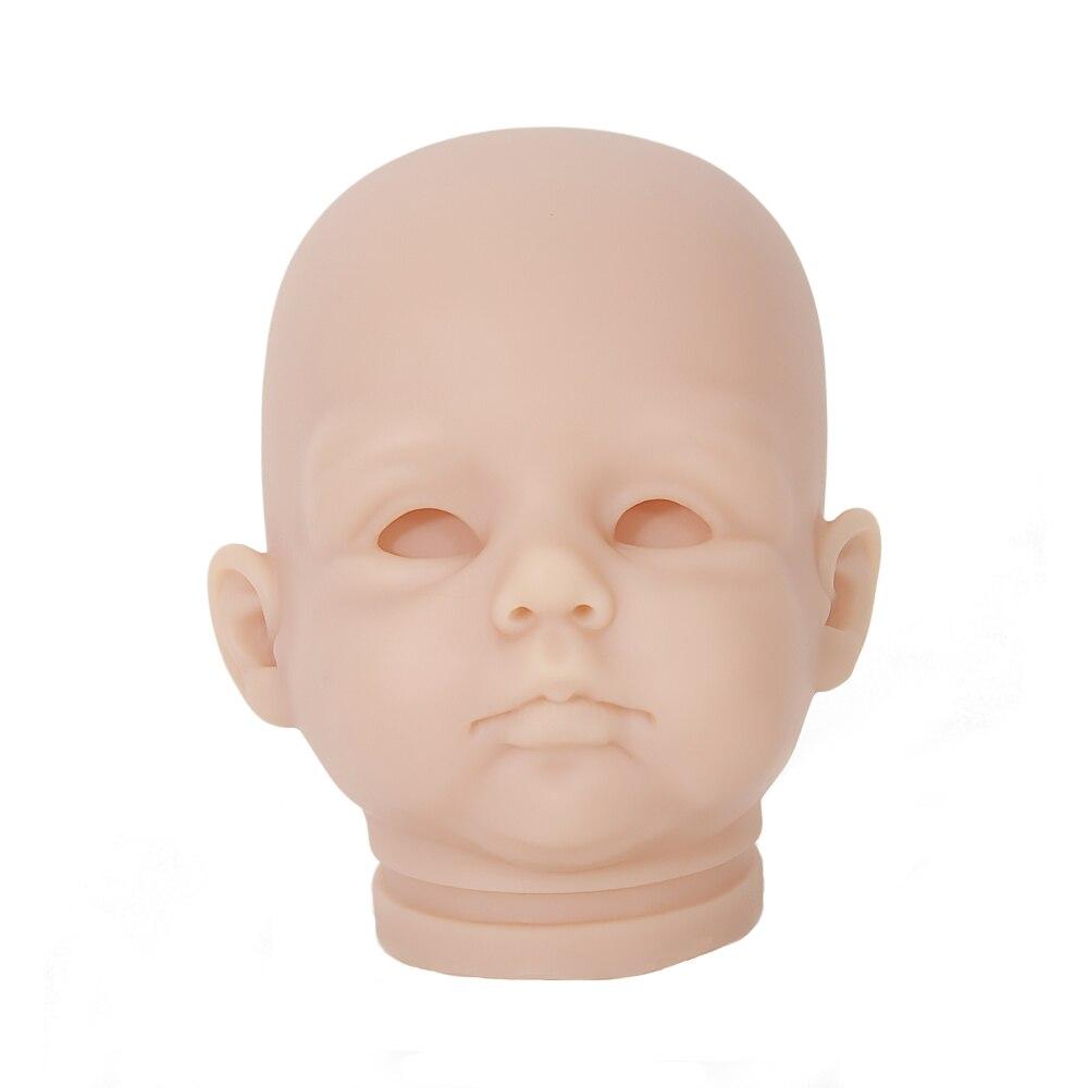 OtardDolls DIY kit blanc reborn de vinyle souple kit poupée pièces vinyl Silicone Tête de 3/4 Bras et Jambes pour 20 bébé