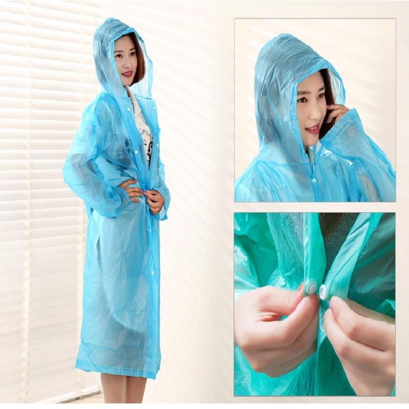 Мода Толстые Прозрачные Туризм Отдых Пальто Дождя С Капюшоном Для Взрослых Мужчины/Женщины Открытый Водонепроницаемый Пончо Плащ #25