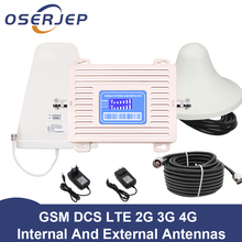 LCD Display GSM 900 UMTS 1800 mhz Dual Band Repeater 2G 3G 4G LTE Phone Amplifier Cellular Mobile Booster +LPDA /Ceiling Antenn