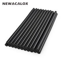 NEWACALOX Gun Adhesive DIY Tools Alloy Accessories Repair 20 pcs/lot 150mm Black Hot Melt Glue Sticks 7mm