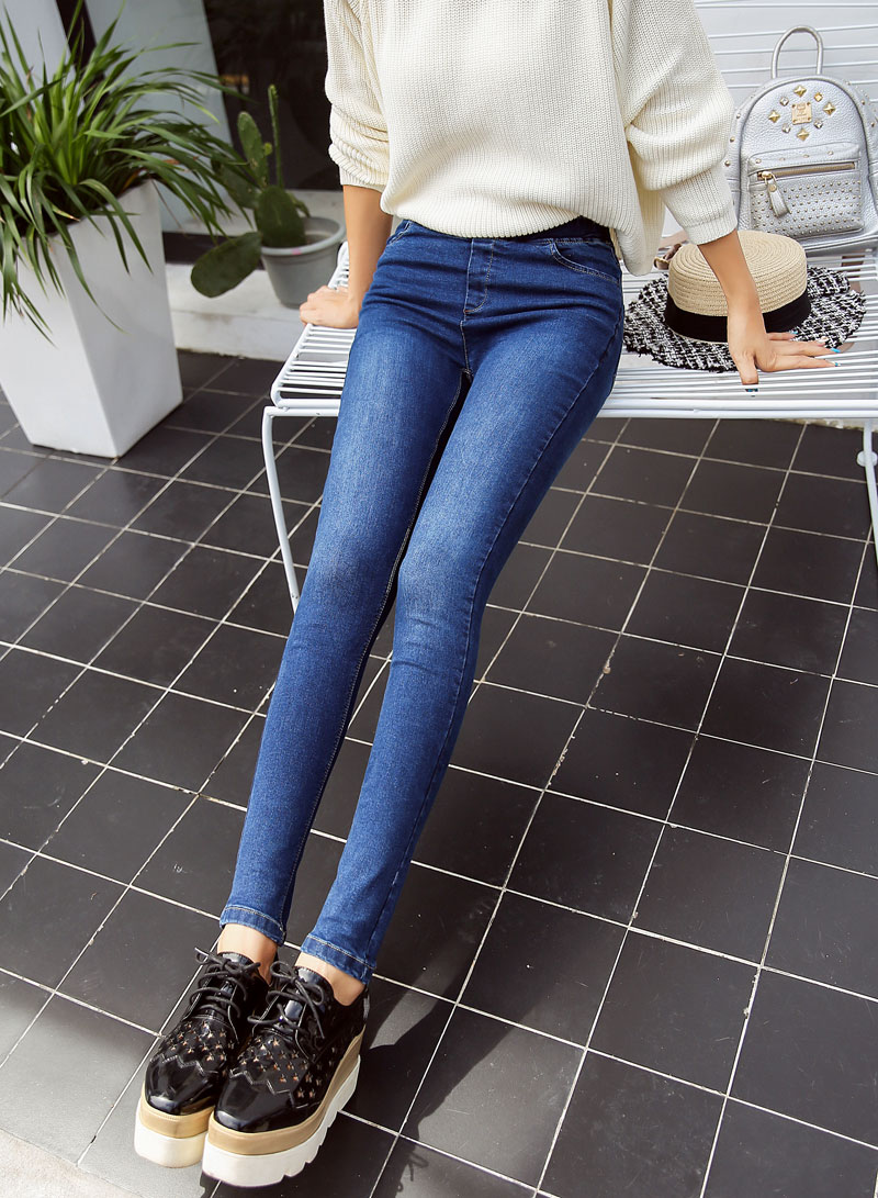 BIVIGAOS Basic Skinny Womens Jeans Ankle Pencil Pants Slim Elastic Denim Pants Jean Leggings Female Cotton Jeggings Jeans Women 62