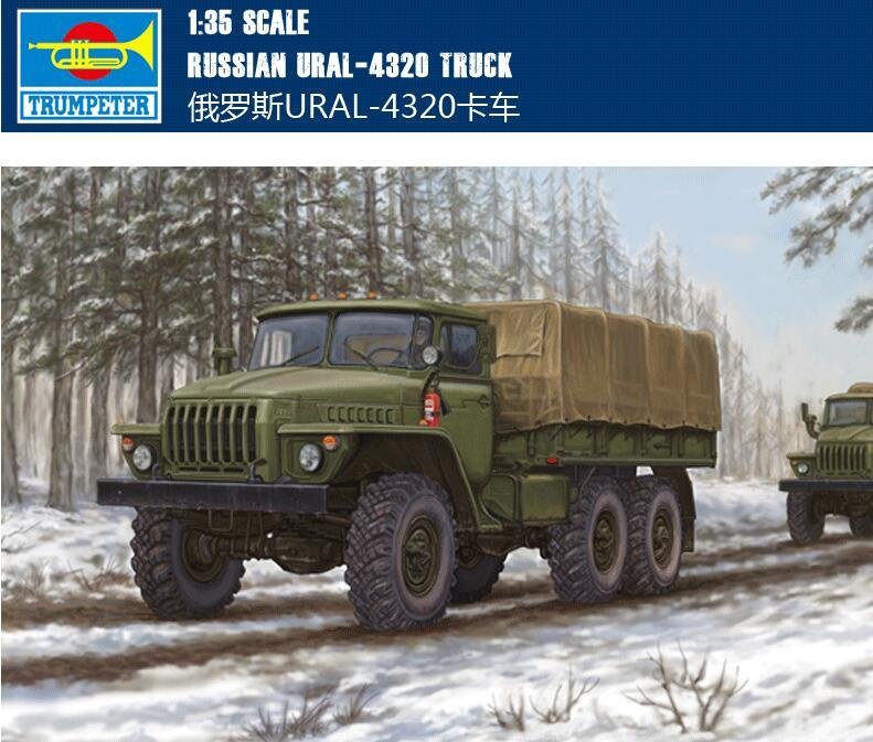 Trumpet 01012 1:35 4320/URAL4320 Truck In Ural, Russia Assembly Model Building Kits Toy цена