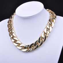 Big Chain Necklace for Men Cool approx. 50cm + 4cm Extension Fashion Retro Gothic Punk Golden Chunky Link Chain Short Necklace