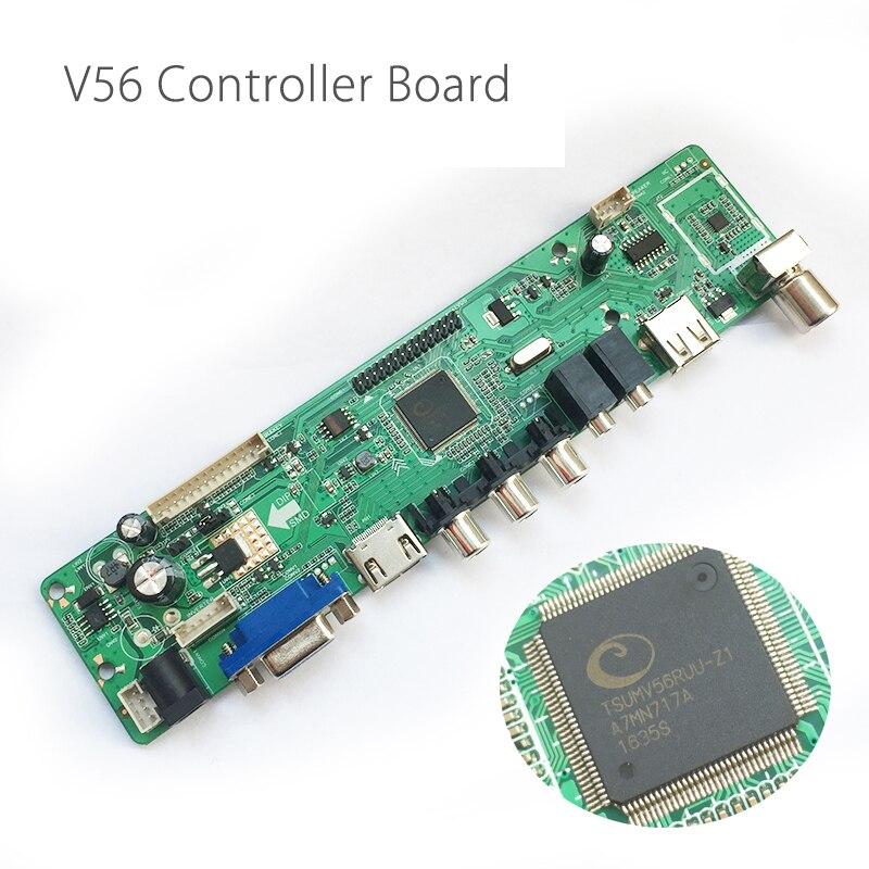 V56 Universal LCD TV Controller Driver Board TV/PC/VGA/HD Port/USB Interface USB play Multi-Media Instead V29 Only Board