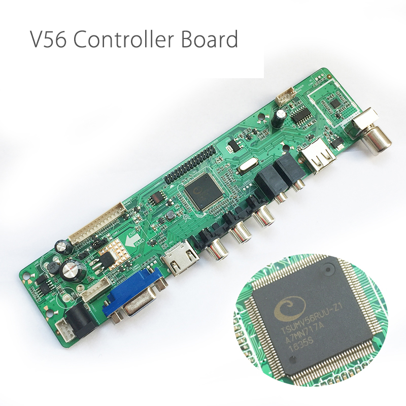 V56 Universal LCD TV Controller Driver Board TV/PC/VGA/HD Port/USB Interface USB play Multi-Media Instead V29 Only Board