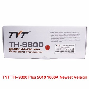 Image 5 - TYT TH 9800 Plus Quad Band Auto Radio Station + Antenne/Kabel 50 w Transceiver TH9800 VHF UHF mobiele Radio walkie talkie voor auto