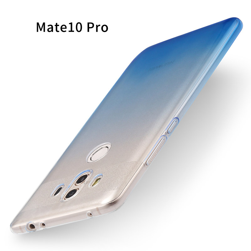 FOR Huawei mate 10 pro case mate10pro Transparent soft silicone shell 6.0 ultra thin Color gradient cover