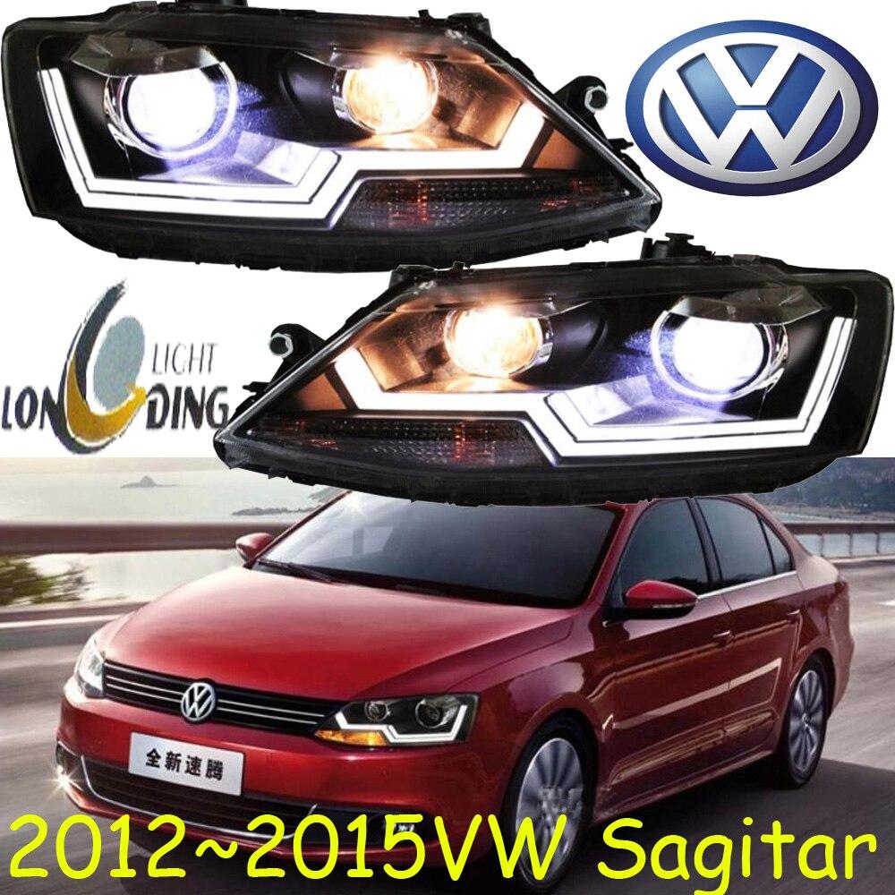 car-styling! Jetta headlight,2006~2015,Free ship!chrome,Jetta fog light,chrome,LED,2ps+2pcs Aozoom Ballast,Phaeton,Jetta,sagitar