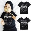Младенцы Новорожденные дети письма топы Мальчиков Одежда Для Девочек Мама Топы Мода Одежда Костюмы 0-24 М