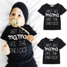 Новорожденные письма младенцы мама мальчиков костюмы девочек топы м мода одежда