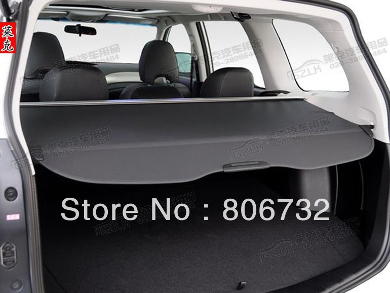 Rear trunk cargo cover  (black) 13 14 Subaru Forester 2013 2014 car rear trunk security shield cargo cover for honda fit jazz 2008 09 10 11 2012 2013 high qualit black beige auto accessories
