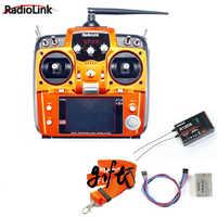 Promotion! Émetteur RC RadioLink AT10 II 2.4 Ghz 10CH + récepteur R12DS PRM-01 Module de retour de tension + batterie 11.1 v 2200 mah + sangle