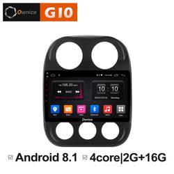 "10,1 ""Android 8,1 блок автомобиля радио gps навигатор Intelligent мультимедийный плеер для Jeep компасы 2010 2011 2012 2013 2014 2015 2016"