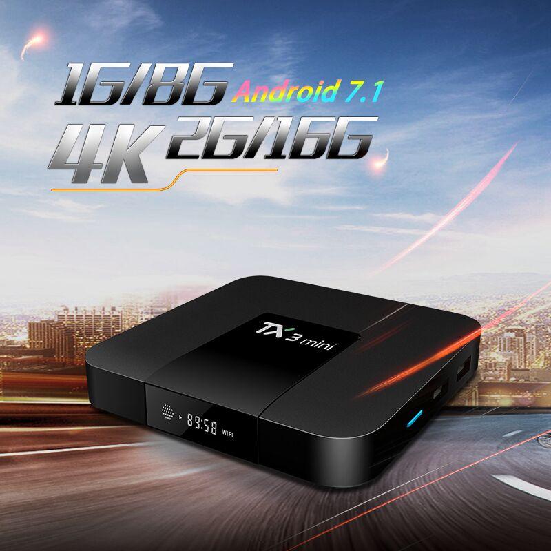 Tanix TX3 Mini Android 7.1 TV BOX  Amlogic S905W Quad Core Smart TV Set Box H.265 4K HDMI 2.4GHz WiFi Support Kodi pk x96
