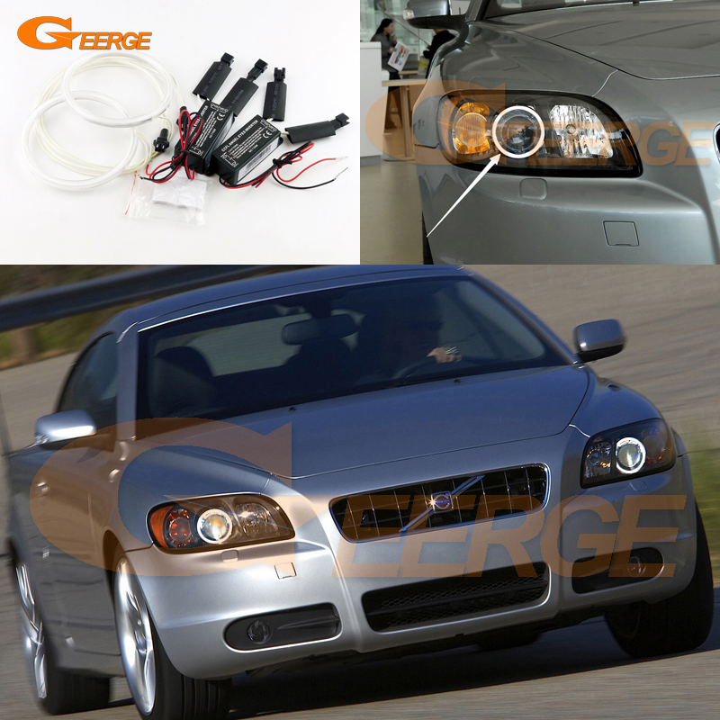 For Volvo C70 2006 2007 2008 2009 Excellent angel eyes Ultra bright headlight illumination CCFL Angel Eyes kit Halo Ring for honda odyssey 4th g rb3 rb4 chassis 2008 present excellent ultrabright headlight illumination ccfl angel eyes kit halo ring
