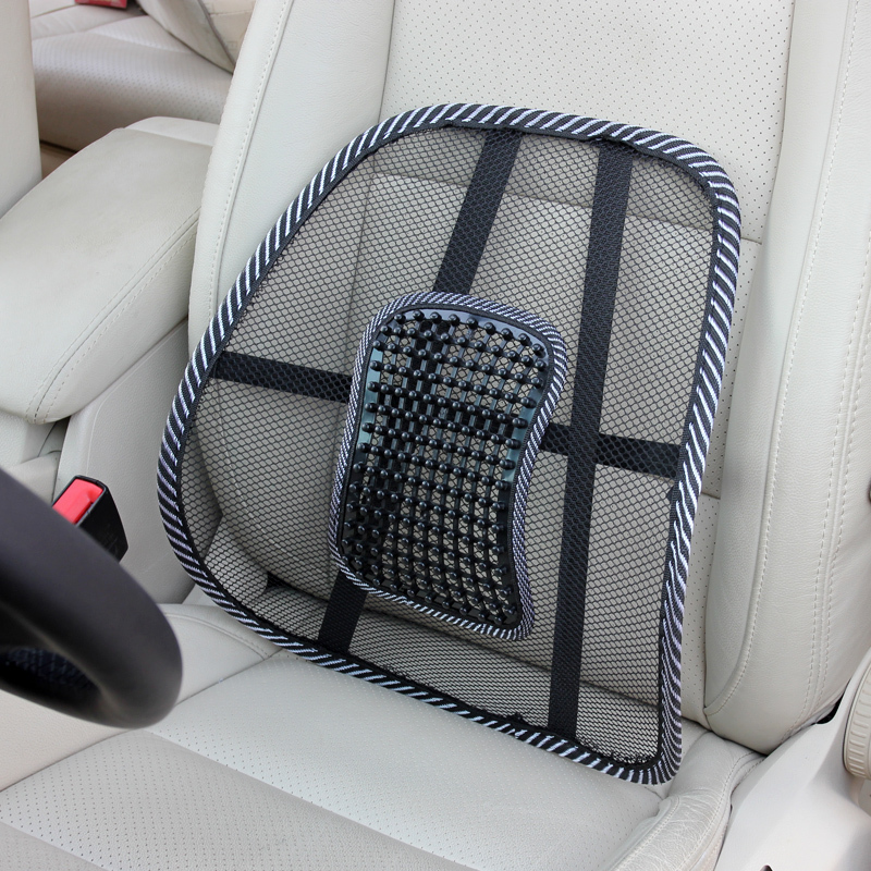 Aliexpress Buy 1PCS Car Seat fice Chair Massage Back Lumbar Support Mesh Ventilate Cushion Pad Auto Interior Accessories Waist Supports from
