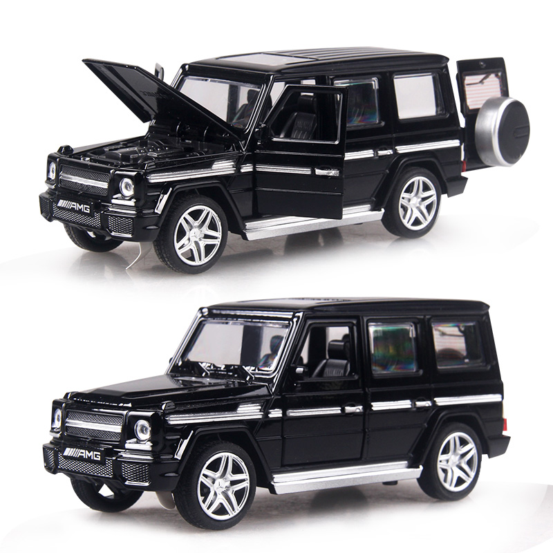 4 color 1:32 Scale 15CM Alloy Cars G65 SUV car Pull Back Diecast Model Toy with sound light Collection Gift toy Boys Kids 1 38 alloy car pull back diecast model toy sound light collection brinquedos car vehicle toys for boys children christmas gift