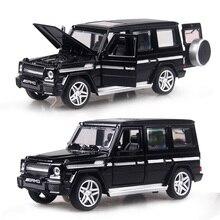 4 färg 1:32 Skala 15CM Alloy Cars G65 SUV bil Draga Back Dyscast Modell Toy med ljud ljus Samling Gåva Barn Boys Kids