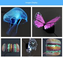 AKDSteel Universal LED Holographic Projector Portable Hologram Player 3D Holographic Dispaly Fan Unique Hologram Projector