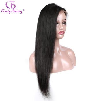 Trendy Beauty Brazilian Straight Hair 10-22 inches 150% density Non-remy Full Lace Frontal Human Hair Wigs With Baby Hair 13*4