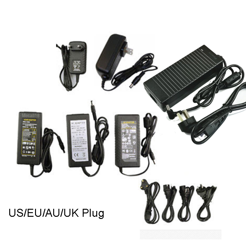 цена на AC 100V-240V Converter Adapter 2A 3A 5A 6A 8A 10A 12V Power Supply EU Plug 5.5mm x 2.1mm for LED Strip Lighting