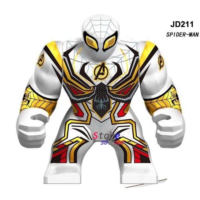 Único Objetivo tamanho Grande do homem Aranha homem aranha Vingadores Thanos Maravilha Hulk IronMan Pantera Negra Figura blocos de construção de Brinquedos Do Miúdo
