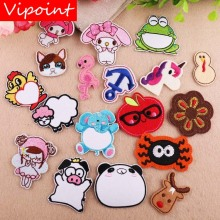 VIPOINT embroidery apple Elephant frog patches pig girl badges applique for clothing YX-35