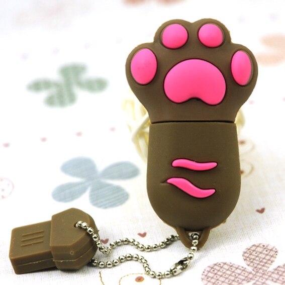 2.0 8GB 16GB 32GB 64GB Cat Claw Pendrive 512 GB Usb Flash Drive Girl Gift Cartoon Mini Usb Stick Key Pen Drive 1TB 2TB Pendrives