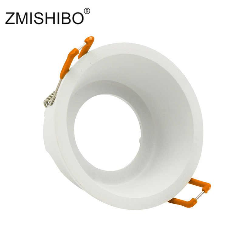 ZMISHIBO круглый глубоко вогнутые одно кольцо Светодиодная лампа сменный MR16 GU5.3/GU10 12 V 85 V-265 V 75 мм отверстие под потолок пятно света