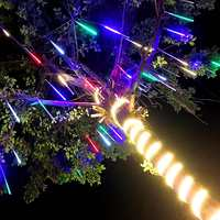Waterproof 8 Tube Meteor Shower 50cm LED Holiday String Light Christmas Outdoor Garden Fairy Lamp Decoration