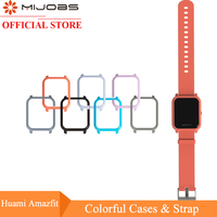 Mijobs 20mm Wrist Strap Hard Plastic PC Shell Protective Case Cover for Xiaomi Huami Amazfit Bip BIT PACE Lite Youth Smart Watch