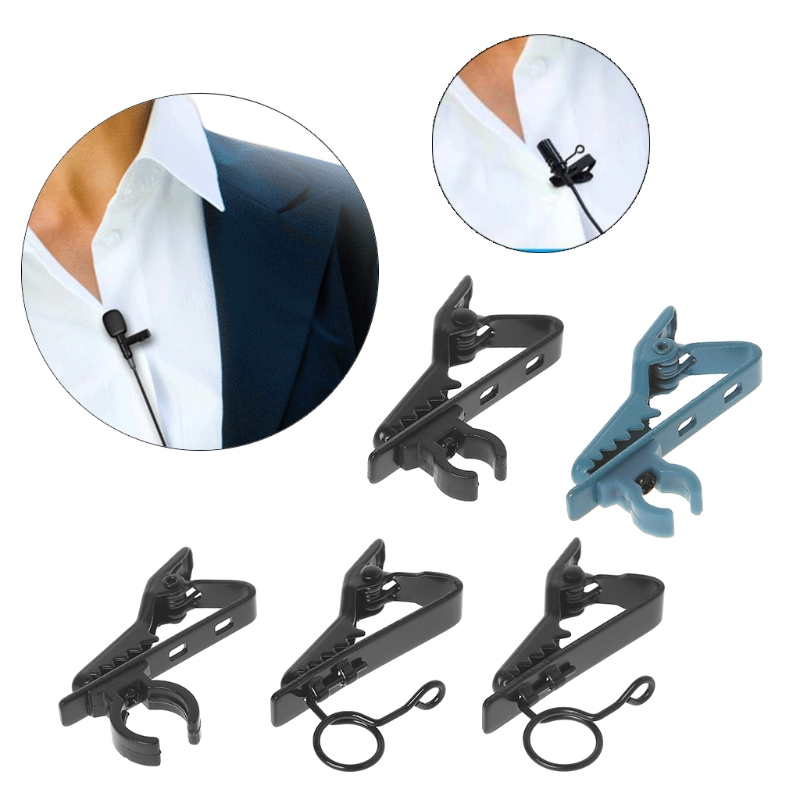 Universal Microphone Lapel Tie Clip Mini Clamp Portable Used For T-shirt Collar