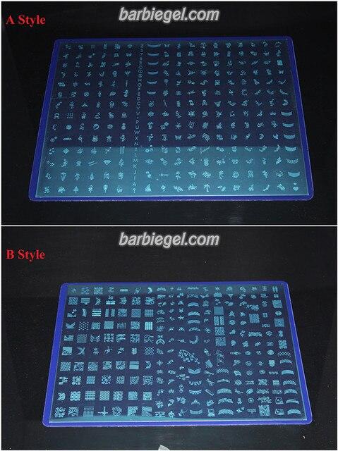(A+B Styles) 489 Patterns BIG SIZE Konad Stainless Steel Nail Art Stamping Plates Manicure DIY Kit Nail Salon Image Template