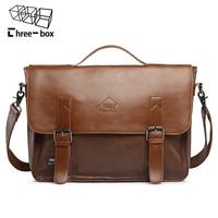 Three box 2017 Leather Men Casual Messenger Bags Fashion Crossbody Shoulder Bags Large Capacity Men's Brand Business Handbags