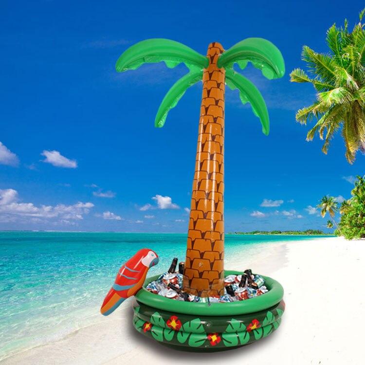 Гавайская серия 180 см Надувное большое кокосовое пальмовое дерево для питья в бассейне для вечеринки охладитель ведро для льда песчаника ук