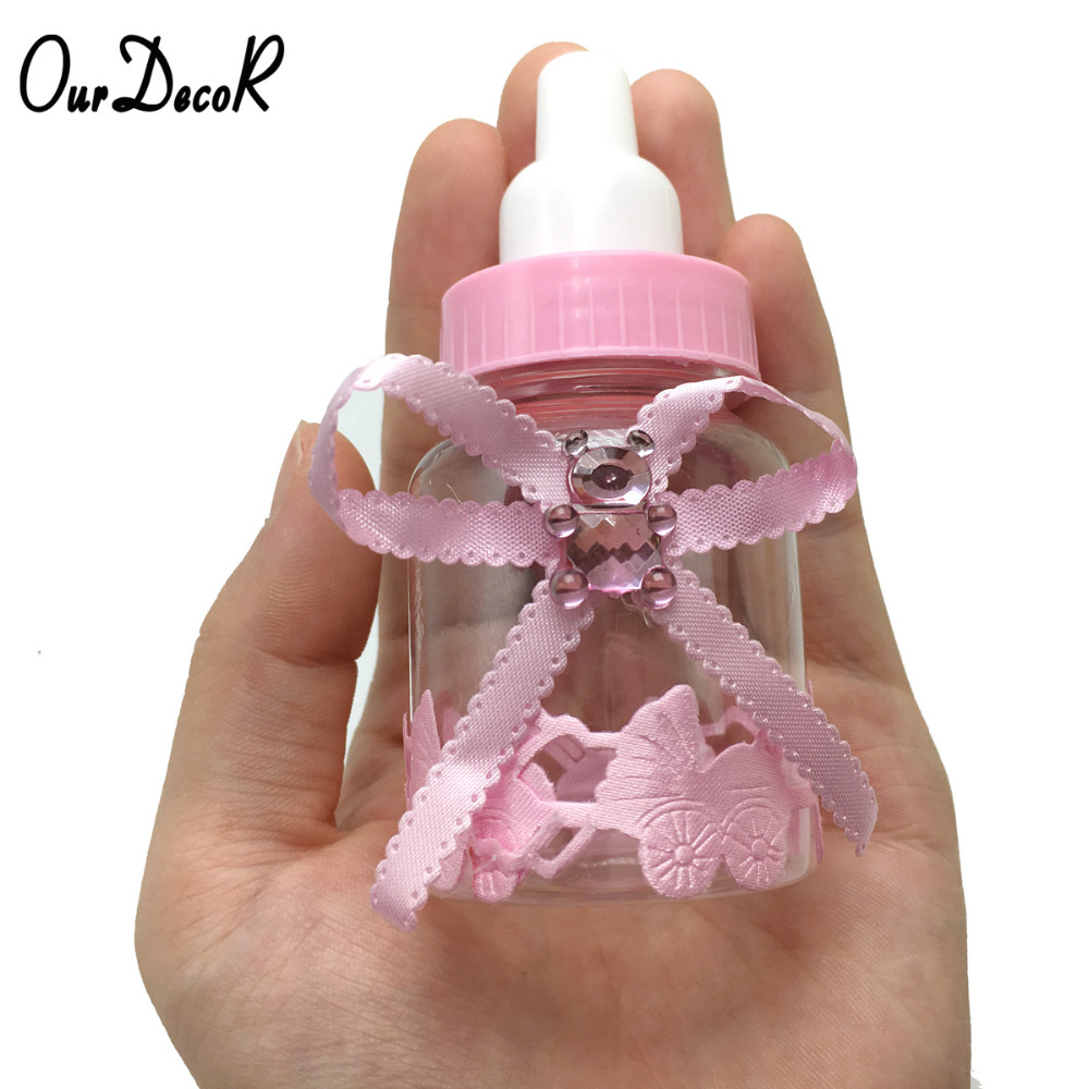 6pcs/lot Milk Bottle Candy Box Party Supplies Baby Feeding Bottle ...