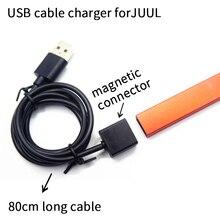 1 шт двойной порт Универсальный 80 см длинный микро USB кабель зарядное устройство для JUUL Магнитный адсорбционный провод для быстрого заряда