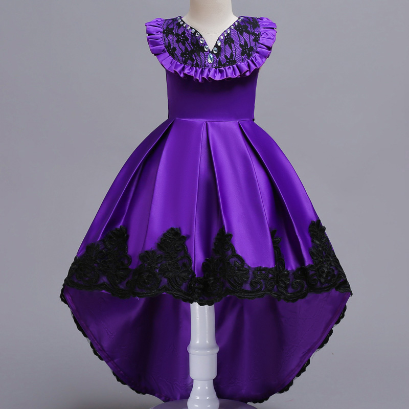 Kids Lace Bridesmaid Flower Girls Dress For Wedding and Party ...