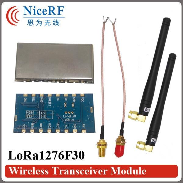 2 ADET Lora1276F30 500 mW Yüksek Hassasiyet (-120 dBm) 915 MHz Kablosuz RF Modülü + 2 ADET Kauçuk Antenler