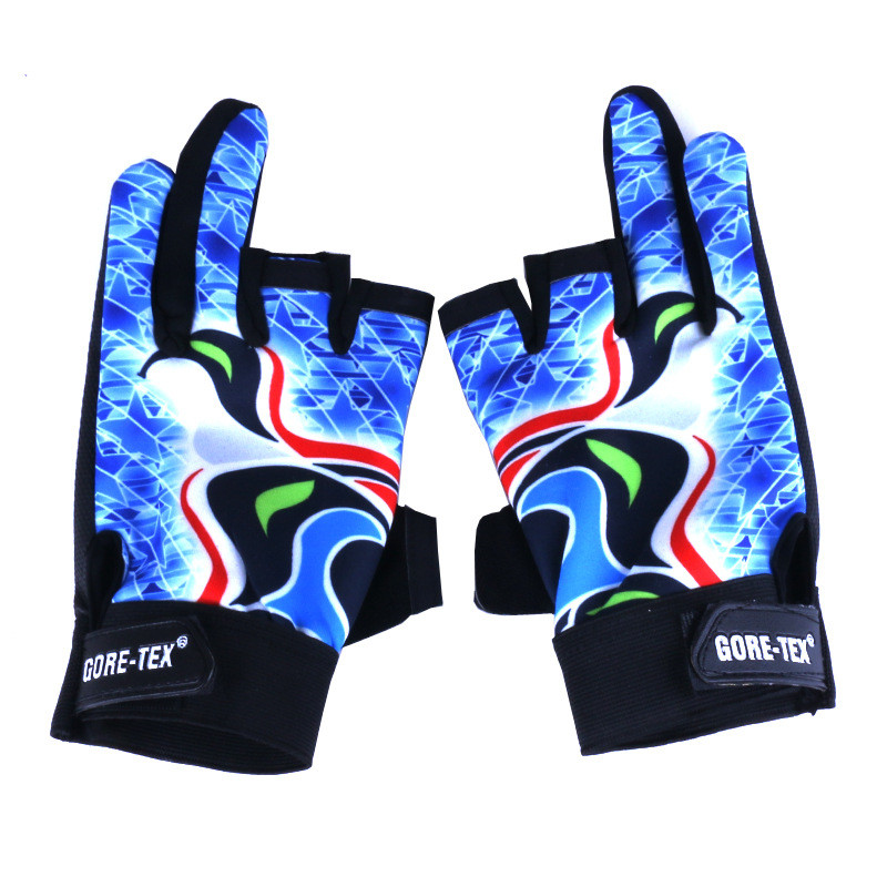 Outdoor Sports Sun Protection Men Glove Waterproof Anti Slip Fishing Gloves Cut Finger Leather Gloves Carp Fishing Accessories in Fishing Gloves from Sports Entertainment