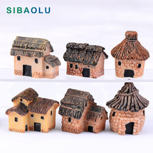 2pc Country Cottage Miniature Figurine DIY House Accessories Doll building home Decoration Simulation plastic Play house toys