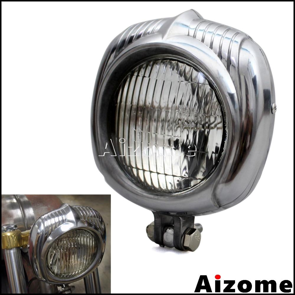 Motorcycle Old School Retro Headlamp Electroline Headlight For Harley Sportster Dyna Touring Luz Bobber Vintage Headlight