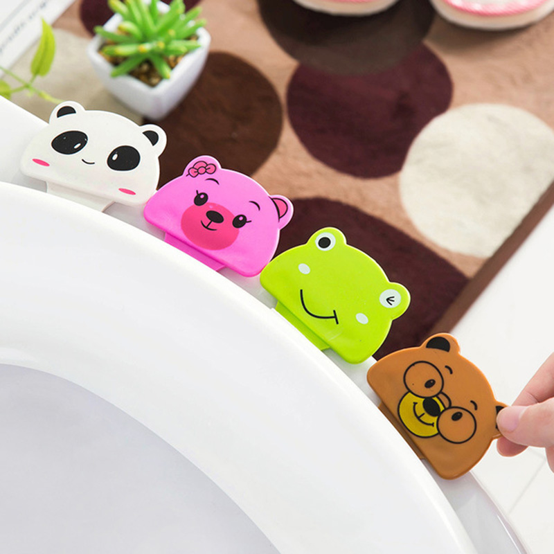 Cartoon Toilet Seat Lifters Convenient To Toilet Lid Device Is Mention Toilet Potty Portable Ring Handle Home Bathroom Tool