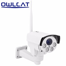 OWLCAT Full HD 1080p IP Camera PTZ Bullet Outdoor CCTV SD Card Waterproof Wifi Night IR 4X ZOOM Rotate Onvif Motion SONY IMX323