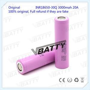 Image 3 - Оригинальный аккумулятор для Samsung 18650, 3000 мАч, 18650 30Q, 3,7 В, литий ионный аккумулятор (1 шт.)