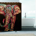 New Colorful Elephant  WaterProof Bathroom Curtain  Anti-mildew Polyester Shower Room Curtain Bathroom Decoration Supplies