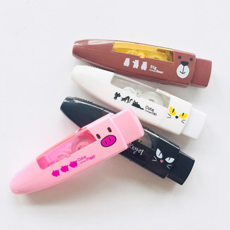 Kawaii Cute Piggy Cat Bear Correction Tape School Office Supply Kids Student Stationery Corrective Eraser