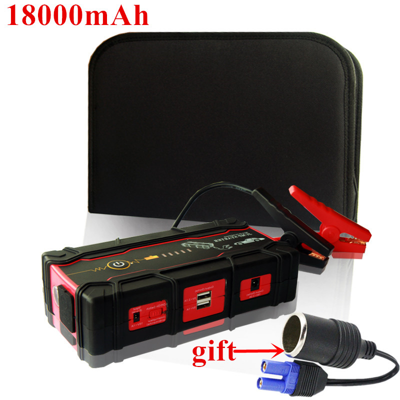 Super Capacity 18000mAh Car Jump Starter Portable 12V Petrol Diesel Car Charger For Car Battery Booster 800A Starting Device LED